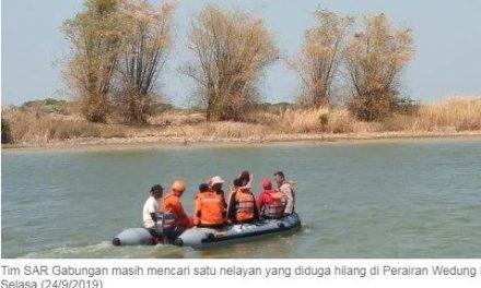 Nelayan Warga Wedung Yang Hilang , Terus di Cari di Perairan Demak Jepara