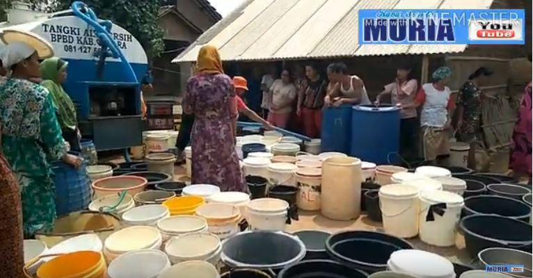 Kantor Pertanahan Jepara , Droping Air Bersih Untuk Desa Karangaji