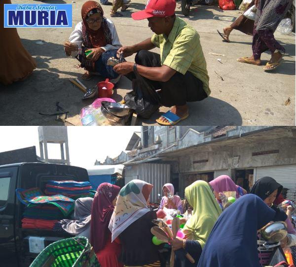 Pedagang Dari Klaten Jual Peralatan Dapur , 2 ribu ,3 ribu ,5 ribu  di serbu Ibu Ibu