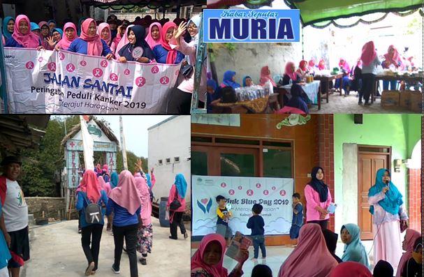 Ratusan Ibu Ibu MAMPU  HADIRI ACARA   Pink blue  Day 'Aisyiyah Demak di Kedungmutih