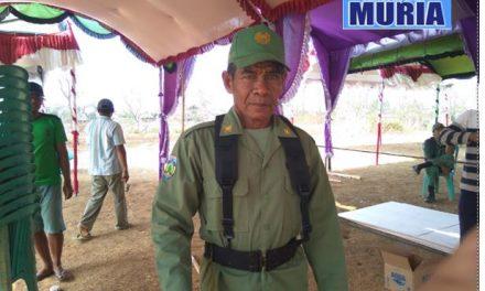 Bang Surip 27 Tahun Jadi Linmas , Siap Sukseskan Pilpet Kedungmalang Jepara