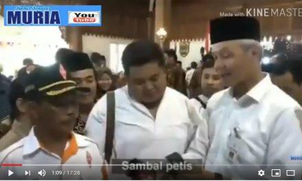 Gubernur Ganjar , SAMTIS  Sambal Petis Sekaligus Untuk Lauk