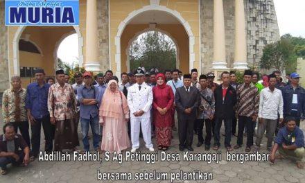 Abdillah Fadhol ,S Ag Pimpin Kembali  Desa Karangaji Enam Tahun Lagi.