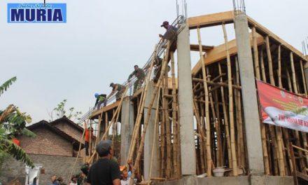 Dengan Swadaya, Masjid Baitussalam Desa Tawangharjo Pati  Mulai Dibangun