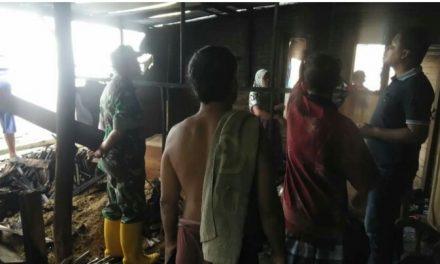 Dini Hari Tadi Satu Rumah di desa Rau Kedung Terbakar