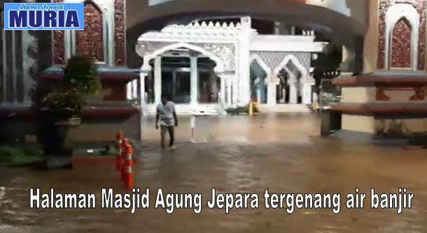 Curah Hujan Tinggi Kota Jepara Sabtu Malam  Tergenang Air