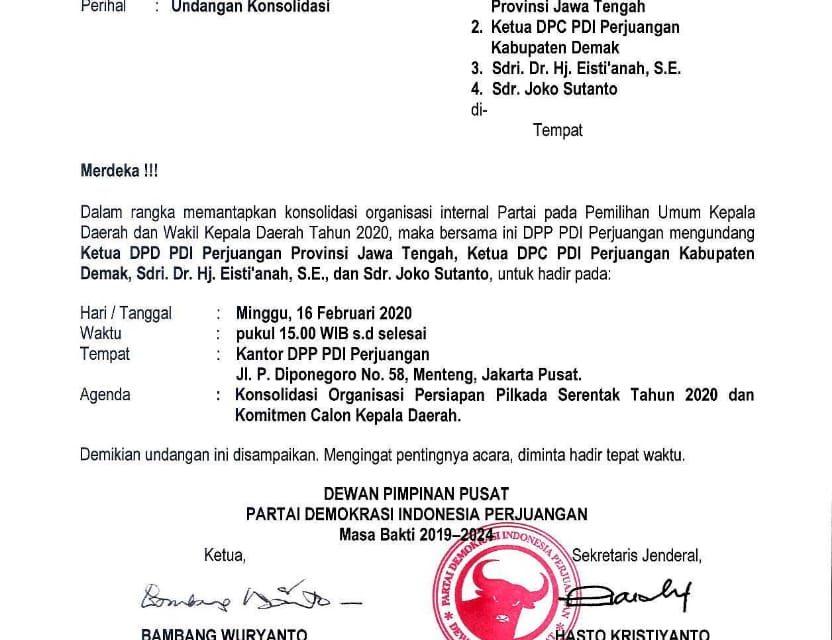 Pengumuman Dipercepat, DPP PDIP Berikan Surat Kepercayaan Kepada Calon Esty – Jos