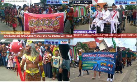 Karnaval Haul Syeh Kedungmalang Jepara, Meriah Pengunjung Padati Perempatan Jembatan Baru