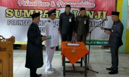 PLT Bupati Jepara Lantik H.Suratmin Petinggi Desa Bandungrejo