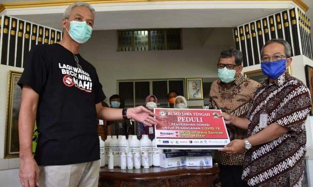 Peduli Penanganan Covid-19, BUMD Jateng Donasi Masker dan Hand Sanitizer