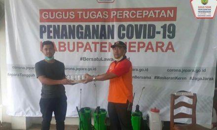 PT Kalingga Jati donasikan 5.010 kaleng susu untuk relawan dan Fasyankes di Jepara