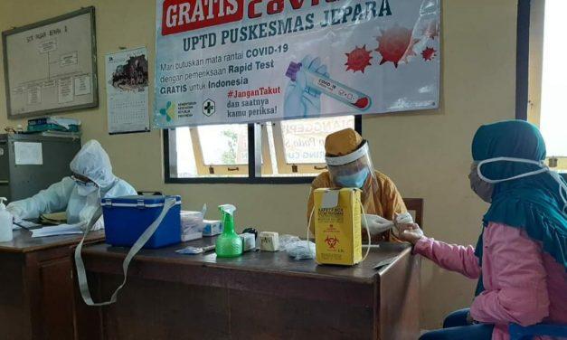 Rapid Test Massal di Pasar Jepara 2 dan Pasar Lebak Sembilan Orang Terkonfirmasi Reaktif