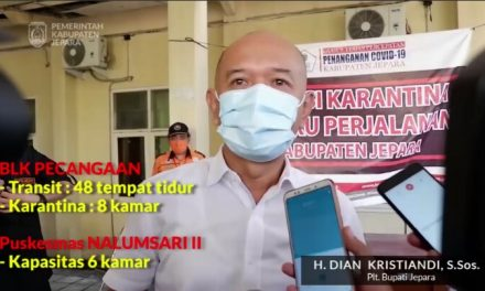 BLK Pecangaan Diresmikan PLT Bupati Jepara Sebagai Karantina Cegah Covid 19