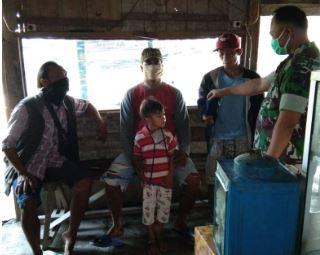 Antisipasi Penyebaran Virus Corona Babinsa Mlatiharjo Himbau Masyarakat Wajib Pakai Masker