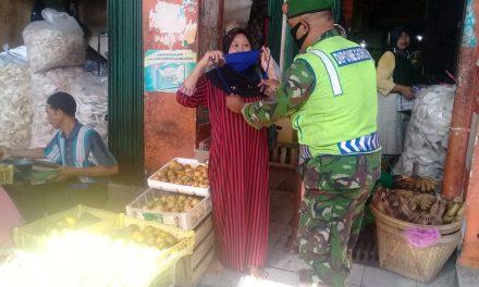 Pengunjung Pasar Pasar Bintoro Dihimbau Pakai Masker