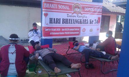 Bhakti Sosial Donor Darah Di Polsek Kalinyamatan Jepara