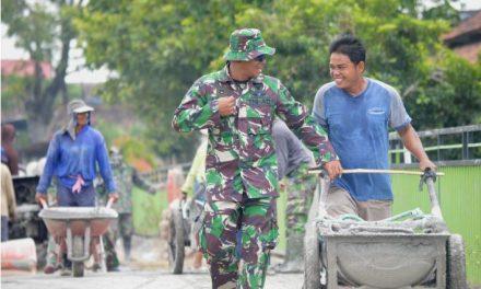 Hari Ke 9 Pelaksanaan TMMD Sengkuyung II Demak Lancar Dan Penuh Gotong Royong