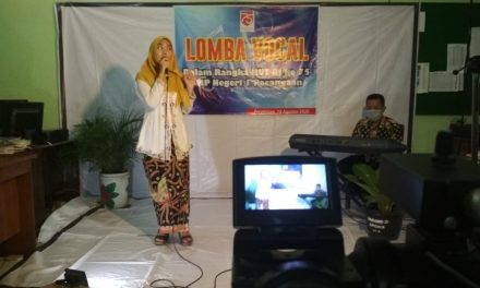 Meriahkan HUT RI ke 75, SMP Negeri 1 Pecangaan Gelar Lomba Solo Vocal Untuk Siswa
