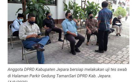 Hari ini ,Seluruh Anggota DPRD JEPARA Jalani Tes Swab