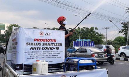 Menghadapi Kenormalan Baru, ACT Jateng Lakukan Penyemprotan Probiotik di Kota Semarang