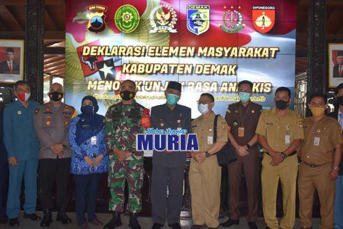 Deklarasi Elemen Masyarakat Kabupaten Demak Menolak Unjukrasa Anarkhis