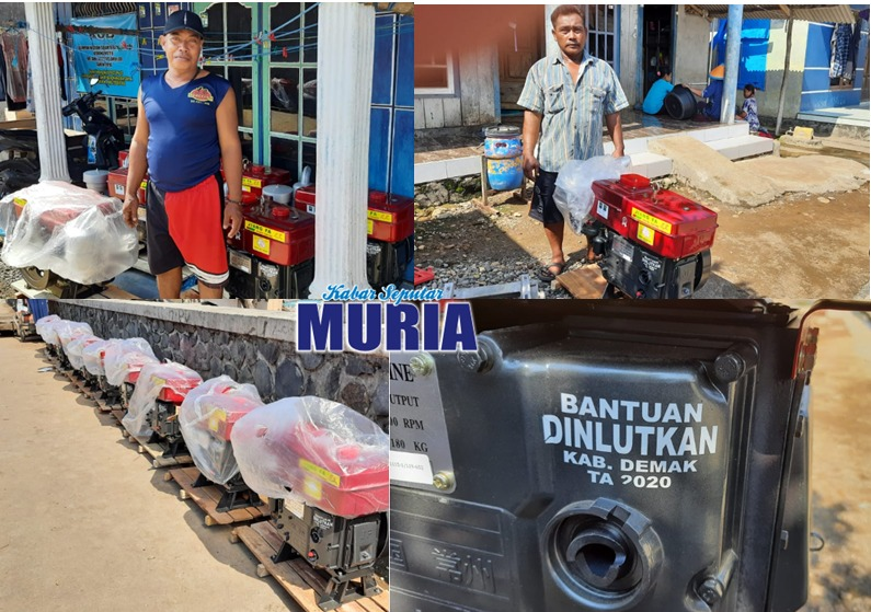 Nelayan Kedungmutih Demak , Terima Bantuan Mesin Perahu dari DKP Demak