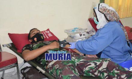 Stok Darah Menipis  , TNI Kodim 0716/ Demak  Donorkan Darahnya
