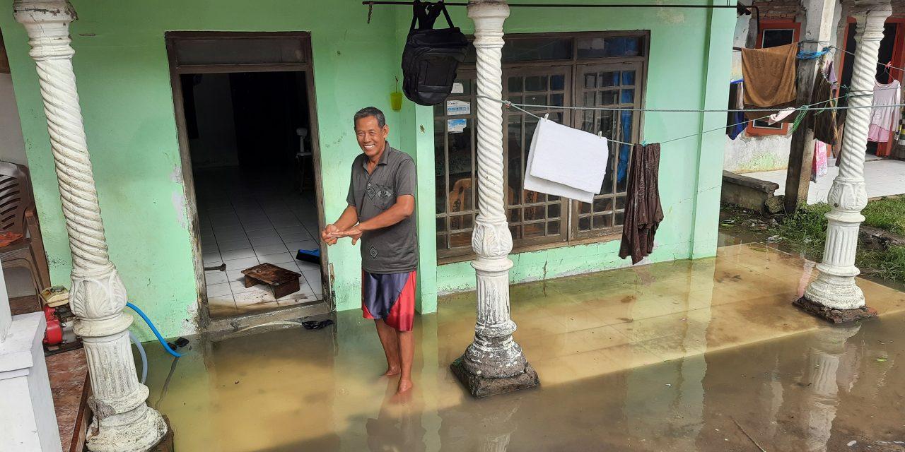 Tanggul Tambak Jebol Puluhan Rumah di Desa Surodadi Tergenang