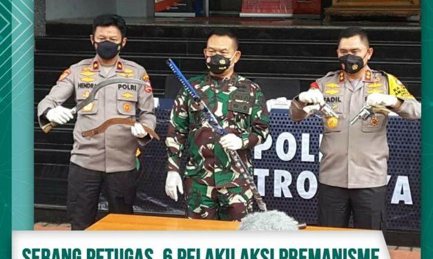 Serang Petugas, 6 Pelaku Aksi Premanisme Terpaksa Dilumpuhkan Polisi