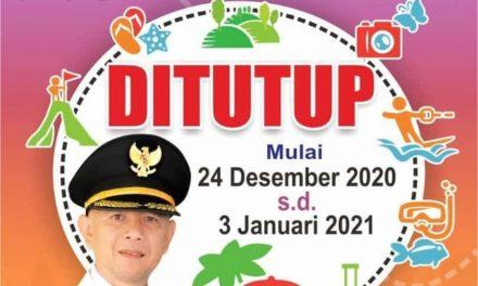 Seluruh Obyek Wisata di Jepara ditutup Selama Libur Natal dan tahun baru.