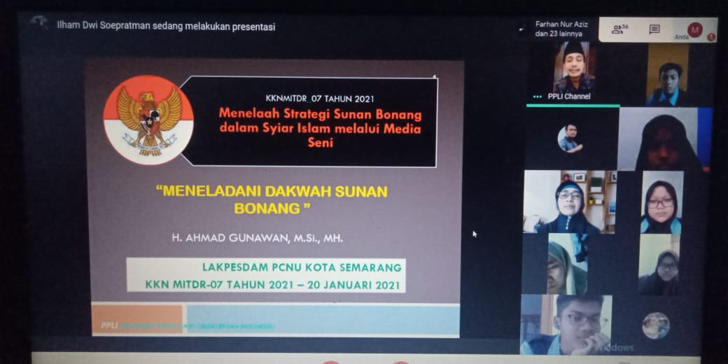 "Mahasiswa KKN UIN Walisongo Semarang Gelar Webinar Kewalisongoan ""Sunan Bonang"""