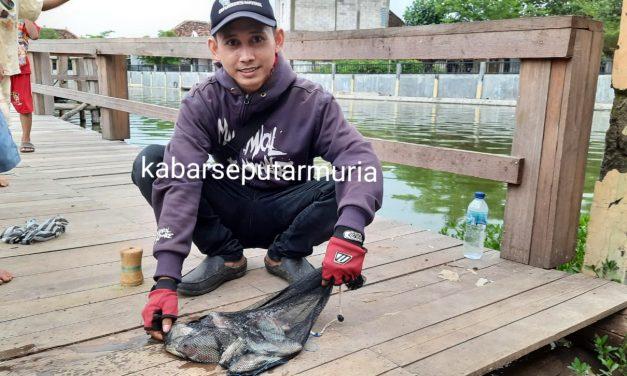 Asyiknya Memancing di Kolam Desa Kedungmutih Demak, Mas Munif dapat banyak Ikan