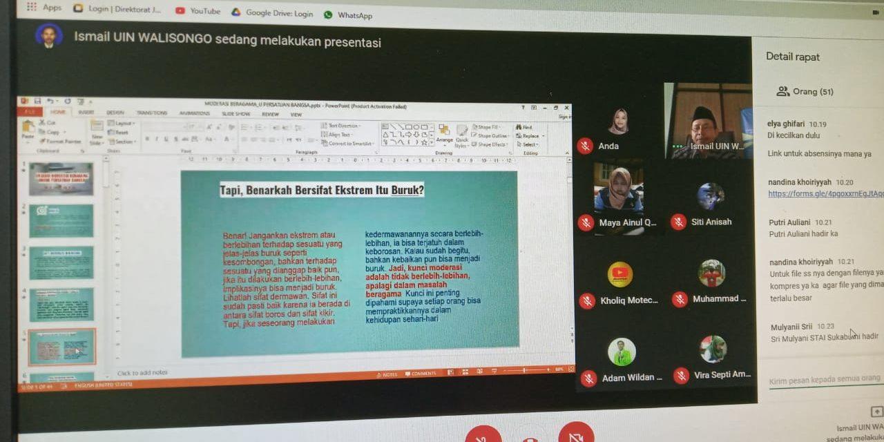Mahasiswa KKN UIN Walisongo Semarang , Gelar  Webinar Moderasi Beragama Untuk Persatuan Indonesia