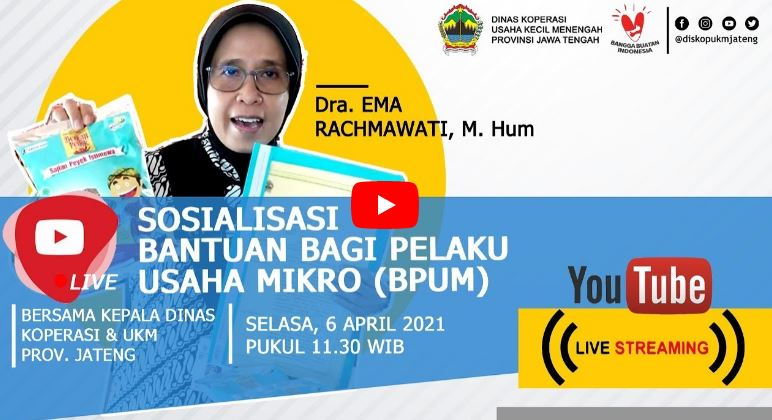 Pendaftaran BPUM 2021 Lewat Dinas Koperasi Kabupaten /  Kota