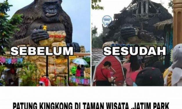 Gempa Malang Rontokkan Kingkong Jatim Park 2