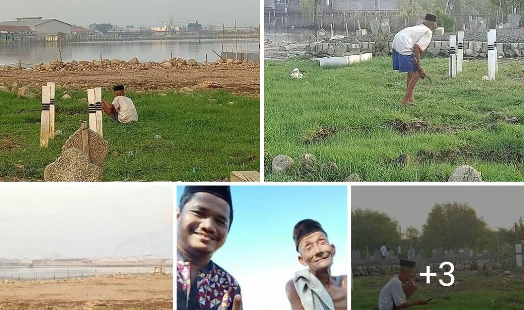 Mbah Ngatmin Puluhan Tahun Jadi Relawan Kampung ,  Urusi Pemakaman Umum