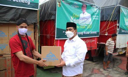 Belasan Ribu Bantuan Paket Sembako dari SGN Dilepas Panglima Santri Gayeng