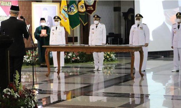 Bupati Demak Terpilih Eisti – Alim Dilantik Gubernur Jateng Di Semarang