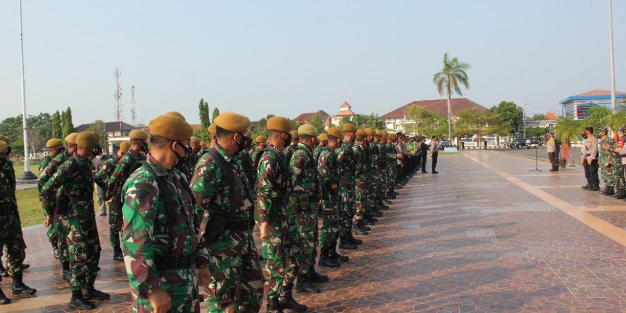 60 Personil BKO dari Yon Armed 3/105 Magelang Diperbantukan Untuk Penanganan Covid-19 Di Kabupaten Demak