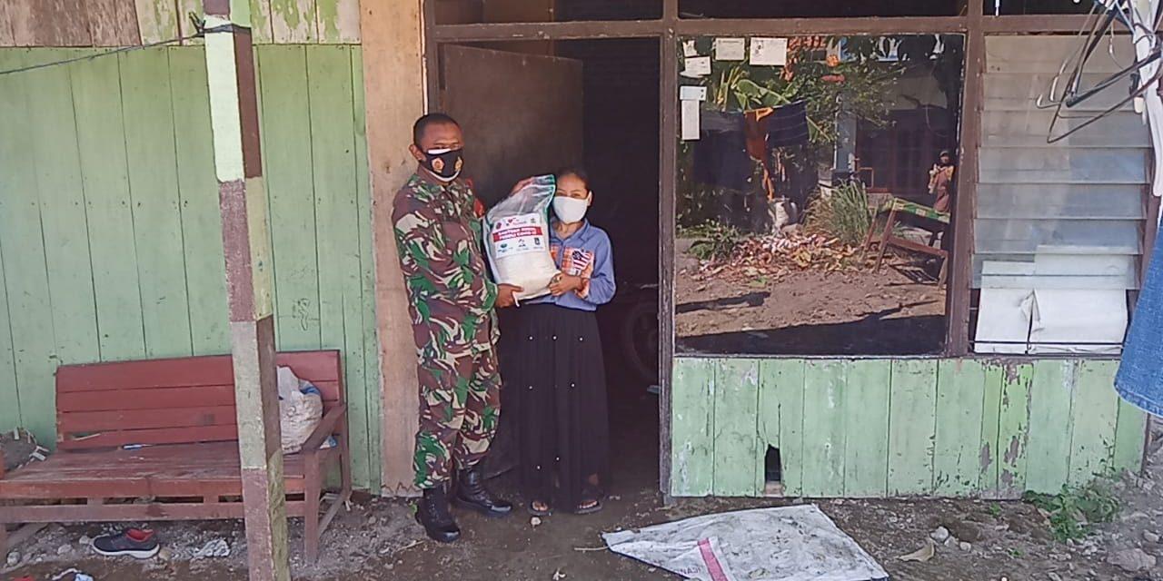 Masker dan Beras Untuk Warga Miskin Dari Kodim Demak
