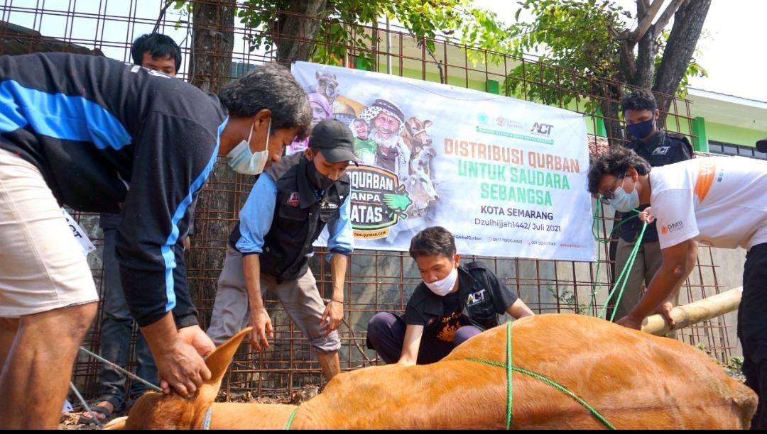 Kegembiraan Warga Sleko Semarang Di Hari Raya Qurban Tahun Ini