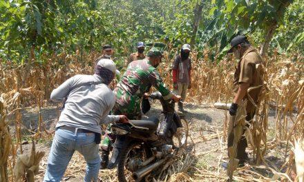 Sisir Hutan Jati Di Jragung ,Petugas Temukan Motor Tak Bertuan