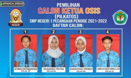 Pemilihan Ketua OSIS Di SMPN 1 Pecangaan Jepara , Siswa Memilih Secara Online