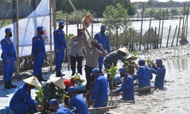 Program Mageri Segoro, Kapolda Jateng Tanam Mangrove Di Bedono Sayung