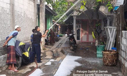 "Usir Sarang Tawon ""Ndas"",  Mbah Jambari Datangkan Mobil Pemadam Kebakaran Demak"